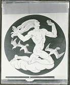 view Air (cartoon for marble mosaic for Nebraska State Capitol, Rotunda floor) [painting] / (photographed by Peter A. Juley & Son) digital asset number 1