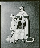 view Nursery Rhyme Cutout: The King was in his Counting House, Counting out His Money from SIng a Song of Sixpence [sculpture] / (photographed by Walter J. Russell) digital asset number 1