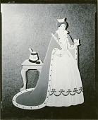 view Nursery Rhyme Cutout: The Queen was in the Parlor, Eating Bread and Honey from Sing a Song of Sixpence [sculpture] / (photographed by Walter J. Russell) digital asset number 1