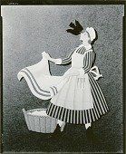 view Nursery Rhyme Cutout: The Maid was Singing in the Garden, Hanging out the Clothes from Sing a Song of Sixpence [sculpture] / (photographed by Walter J. Russell) digital asset number 1