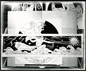 view Cosmic Energy (cartoon for marble mosaic for Nebraska State Capitol) [painting] / (photographed by Peter A. Juley & Son) digital asset number 1