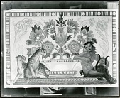 view Decorative Floral Design with Leopards and Satyr [art work] / (photographed by Peter A. Juley & Son) digital asset number 1