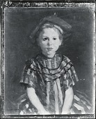 view Little Girl in Red Stripes [painting] / (photographed by Peter A. Juley & Son) digital asset number 1