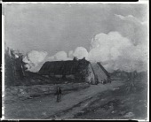view Old Brittany Farm Houses [painting] / (photographed by Peter A. Juley & Son) digital asset number 1