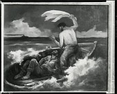 view Two Men in a Lifeboat [painting] / (photographed by Peter A. Juley & Son) digital asset number 1