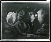 view Searching a Cave [painting] / (photographed by Peter A. Juley & Son) digital asset number 1