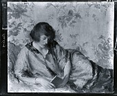 view Girl Reading [painting] / (photographed by Peter A. Juley & Son) digital asset number 1