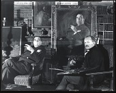 view Brynjulf Strandenaes in his studio with unidentified sitter [photograph] / (photographed by Peter A. Juley & Son) digital asset number 1