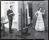 view Henry Strater in his studio with sitter Ruth Breton [photograph] / (photographed by Peter A. Juley & Son) digital asset number 1