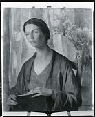 view Young Woman with Lilies [painting] / (photographed by Peter A. Juley & Son) digital asset number 1