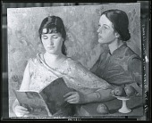 view Two Girls with Book [painting] / (photographed by Peter A. Juley & Son) digital asset number 1