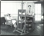 view Ivan G. Olinsky at work in his studio with sitter Mrs. Paul Juley, Lyme, Connecticut [photograph] / (photographed by Peter A. Juley & Son) digital asset number 1