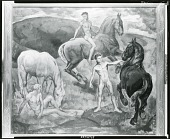 view Young Men and Horses [painting] / (photographed by Peter A. Juley & Son) digital asset number 1