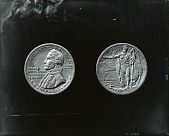 view Plaster models for James Cook Half Dollar [sculpture] / (photographed by Peter A. Juley & Son) digital asset number 1