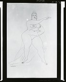 view Female Nude [drawing] / (photographed by Peter A. Juley & Son) digital asset number 1