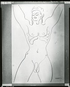 view Male Nude [drawing] / (photographed by Peter A. Juley & Son) digital asset number 1