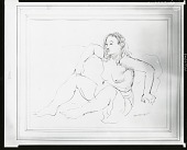 view Seated Nude [drawing] / (photographed by Peter A. Juley & Son) digital asset number 1