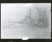view U.S.S. Columbia Under Construction [graphic arts] / (photographed by Peter A. Juley & Son) digital asset number 1