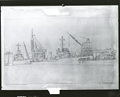 view U.S.S. Mervine, Quick and Radnor in Wet Basin [graphic arts] / (photographed by Peter A. Juley & Son) digital asset number 1