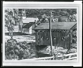 view Covered Bridge [art work] / (photographed by Peter A. Juley & Son) digital asset number 1