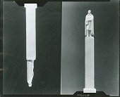 view Model for Thomas Jefferson Rusk Monument (front and side view) [sculpture] / (photographed by Peter A. Juley & Son) digital asset number 1