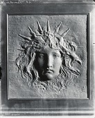 view (No Title Given: Ornament for Cornelius Vanderbilt House) [sculpture] / (photographed by Peter A. Juley & Son) digital asset number 1