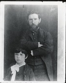 view Augustus Saint-Gaudens with his son Homer [photograph] / (photographed by De Witt Ward) digital asset number 1