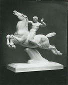 view Horse and Rider [sculpture] / (photographed by Peter A. Juley & Son) digital asset number 1