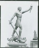 view Man with Sword and Dragon [sculpture] / (photographed by Peter A. Juley & Son) digital asset number 1