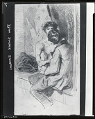 view Two Figures [drawing] / (photographed by Peter A. Juley & Son) digital asset number 1