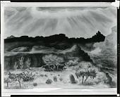 view Arizona Waterhole [painting] / (photographed by Peter A. Juley & Son) digital asset number 1