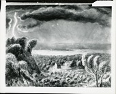 view Storm over the Missouri River [painting] / (photographed by Peter A. Juley & Son) digital asset number 1