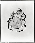 view No Title Given: Woman Seated Next to Barrell [drawing] / (photographed by Peter A. Juley & Son) digital asset number 1