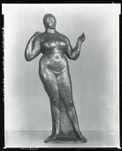 view Standing Nude, Left Hand Raised [sculpture] / (photographed by Peter A. Juley & Son) digital asset number 1
