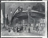 view Sixth Avenue Elevated and Third Avenue [painting] / (photographed by Peter A. Juley & Son) digital asset number 1