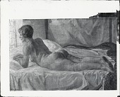 view Nude Looking Out the Window (Prone) [painting] / (photographed by Peter A. Juley & Son) digital asset number 1