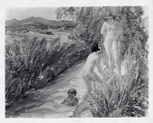 view Bathers in the Acequia Madre [painting] / (photographed by Peter A. Juley & Son) digital asset number 1