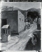 view Street in Moonlight, Santa Fe [painting] / (photographed by Peter A. Juley & Son) digital asset number 1
