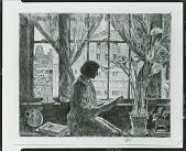 view No Title Given: Woman by Window [graphic arts] / (photographed by Peter A. Juley & Son) digital asset number 1