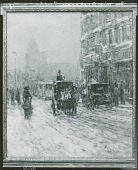 view Winter Morning on Broadway [art work] / (photographed by Peter A. Juley & Son) digital asset number 1