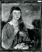 view Girl with Flower Basket [painting] / (photographed by Peter A. Juley & Son) digital asset number 1