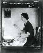 view The Bath, Portrait of Emelyn Nickerson with Baby [painting] / (photographed by Peter A. Juley & Son) digital asset number 1