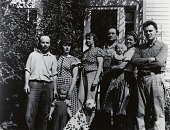 view William Zorach with unidentified group, Robinhood, Maine [photograph] / (photographed by Peter A. Juley & Son) digital asset number 1