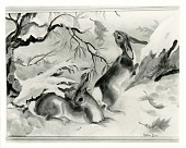 view Rabbits on the Legdge [painting] / (photographed by Peter A. Juley & Son) digital asset number 1