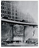 view Architect's building rendering featuring William Zorach's 'Epic of America' [drawing] / (photographed by Peter A. Juley & Son) digital asset number 1