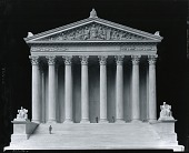 "view United States Supreme Court Building, Model for pediment ""Equal Justice Under Law"" [sculpture] / (photographed by Peter A. Juley & Son) digital asset number 1"