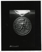 view New York Central Lines For Valor Medal (Obverse) [sculpture] / (photographed by Peter A. Juley & Son) digital asset number 1