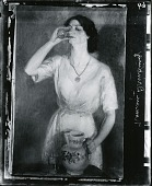 view Woman Drinking Glass of Water [painting] / (photographed by Peter A. Juley & Son) digital asset number 1