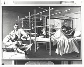 view Fracture Ward, Army Hospital [painting] / (photographed by Peter A. Juley & Son) digital asset number 1