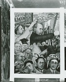 view Portrait of America: Mussolini [fresco] / (photographed by Peter A. Juley & Son) digital asset number 1